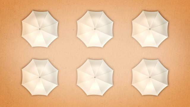 weiße regenschirme - sonnenschirm stock-videos und b-roll-filmmaterial