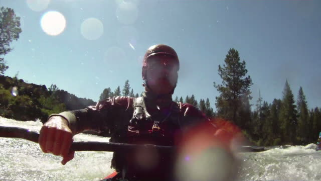 White water kayaking video