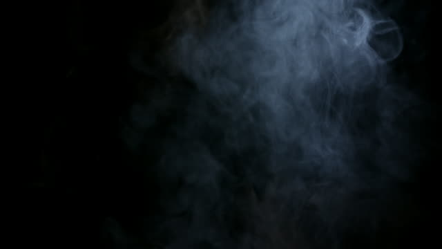 White Water Vapour on a Black Background video