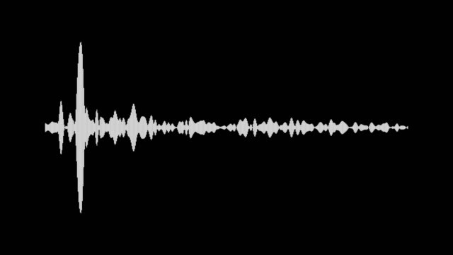 White waveform. Audio signal animation