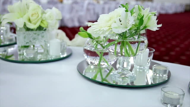 fiori da sposa bianco - trillium video stock e b–roll