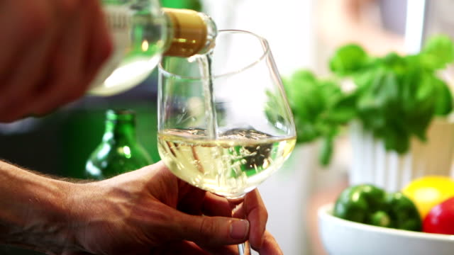 White Wine Being Poured video