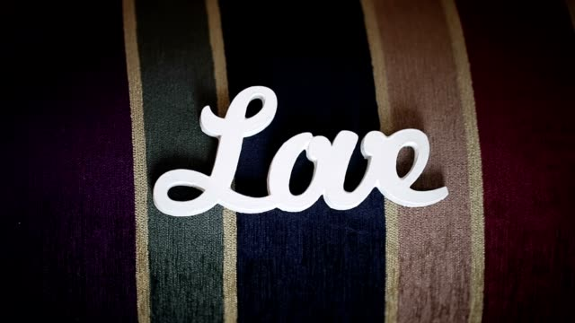 White wooden word love video