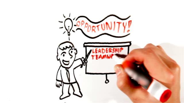 Whiteboard business illustration