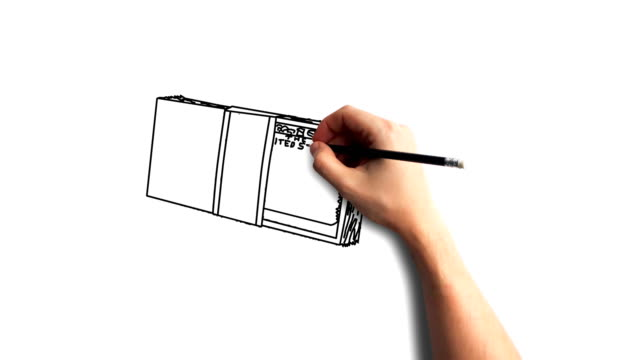 Whiteboard Stopmotion Style Animation Hand Drawing The Dollar Bills Stock Video Download Video Clip Now Istock