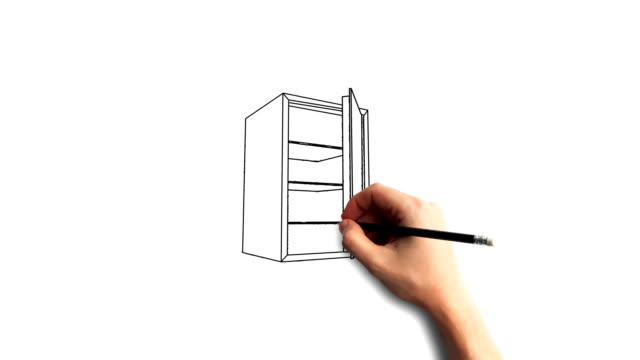 Whiteboard Stopmotion Style Animation Hand Drawing The Safe Stock Video Download Video Clip Now Istock