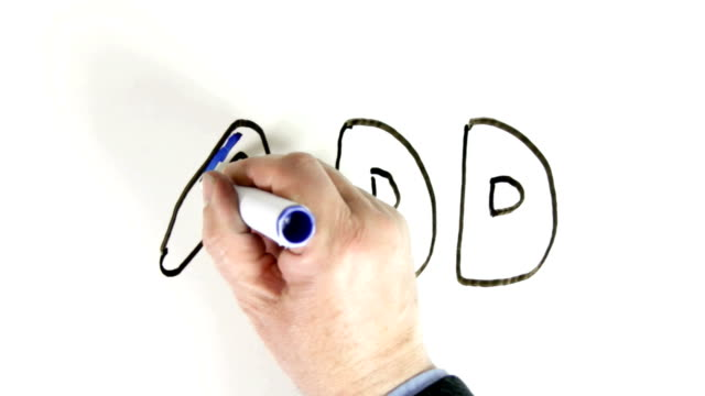 Whiteboard time lapse of the handwritten word ADD video