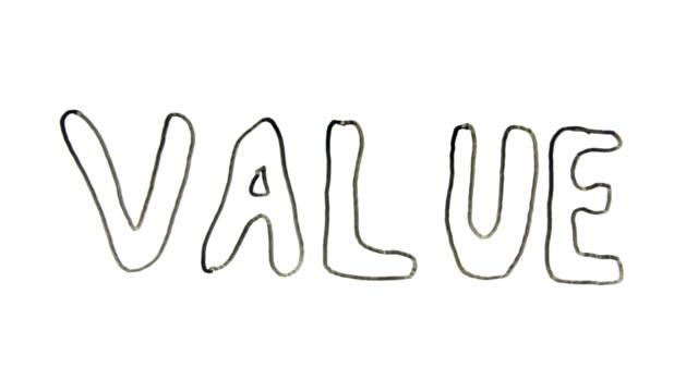 vídeos de stock, filmes e b-roll de quadro branco intervalo de tempo de palavra por escrito de valor - arméria
