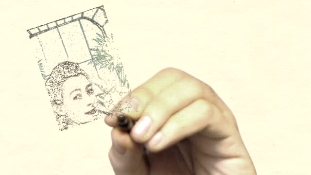 whiteboard vintage photo: looking back - family trees stock videos and b-roll footage