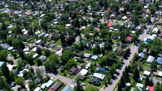 Whitefish - Aerial View - Montana, Flathead County, United States video