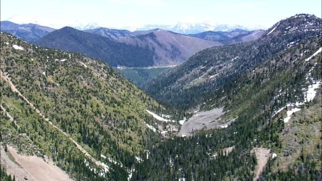 Whitefish Range  - Aerial View - Montana, Flathead County, United States video