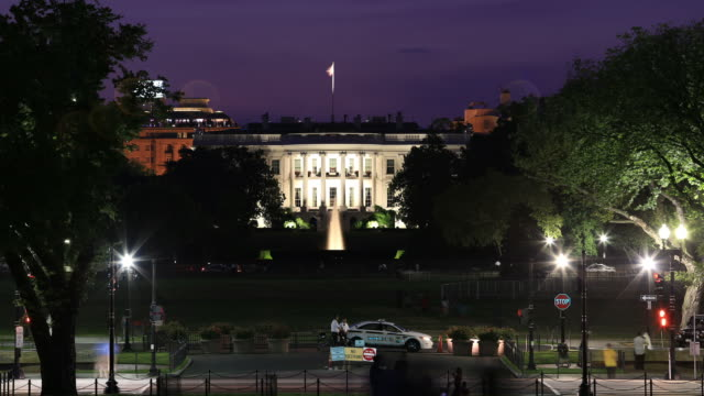 whitehouse night time lapse - white house 個影片檔及 b 捲影像