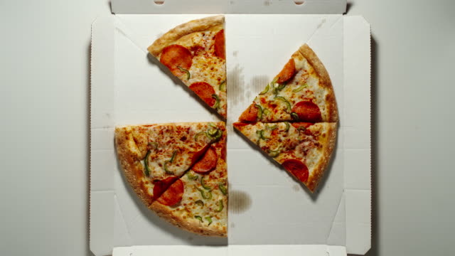 RANDOM: Whole Circle Of Big Pizza Is Eaten Up From The White Box