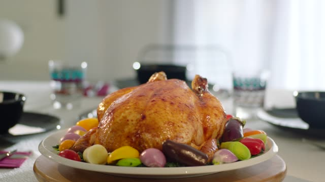 whole fried chicken - thanksgiving background stock videos & royalty-free footage