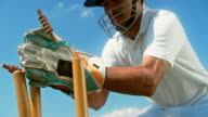 istock SLO MO Wicket-keeper stumping the batsman 1178544644