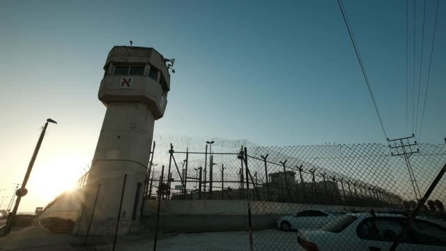 Wide angle prison tower