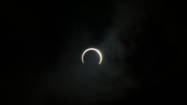 Wide angle timelapse of annular solar eclipse
