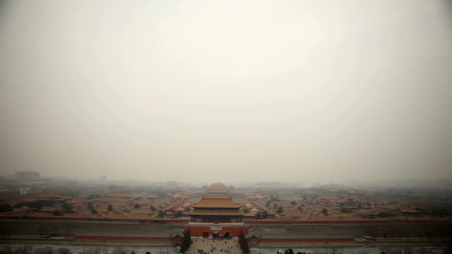 Wide Angle View of Forbidden City video