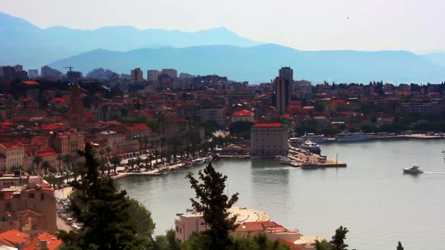 Wide Angle View of Split Croatia