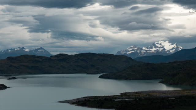 Wide angle view of the park with Lenticular clouds 4K Timelapse Sequence of Torres del Paine, Chile - Wide angle view of the park with Lenticular clouds sorpresa stock videos & royalty-free footage