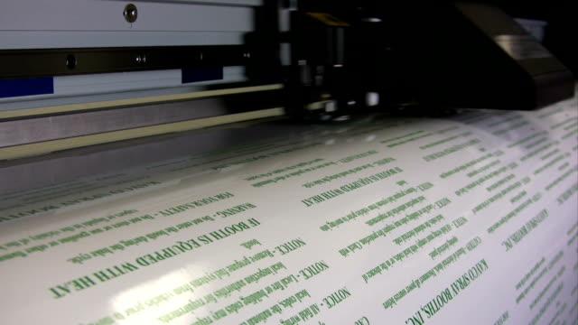 HD: Wide Format Printer Printing Labels video