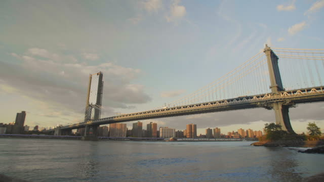 Wide Gimbal shot of the Manhattan Bridge