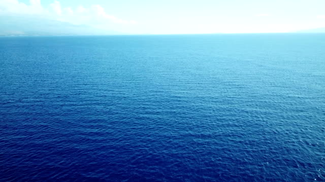 Wide Open Horizon Beyond Blue Seascape in Pacific video