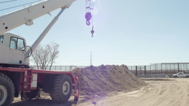 Wide Pan of Construction Site Near Border video