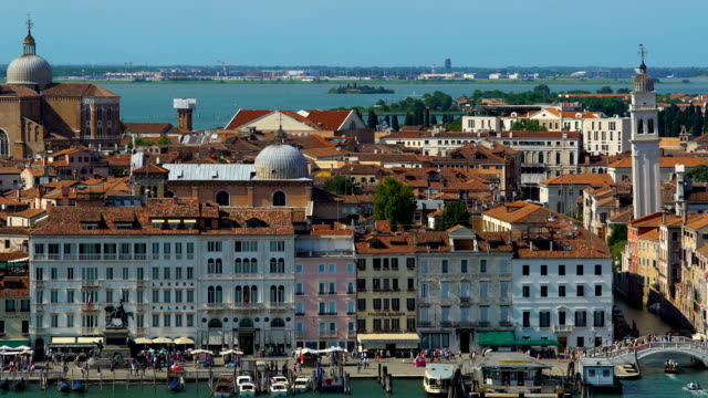 Wide panorama of ancient architecture in Venice, tourism and attractions, Italy video