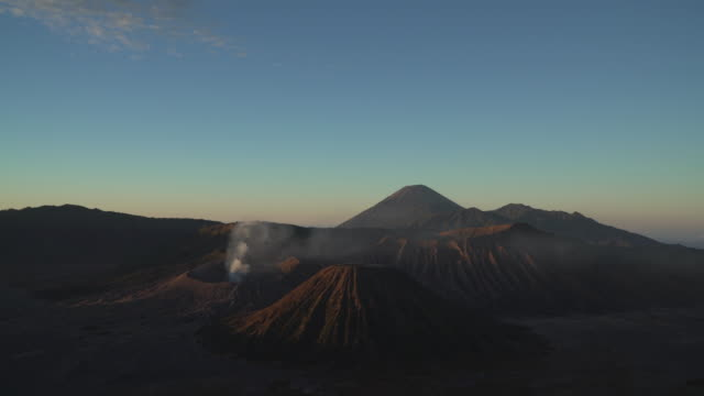 4K wide shot, Beautiful of Mt.Bromo, Indonesia in the morning. video