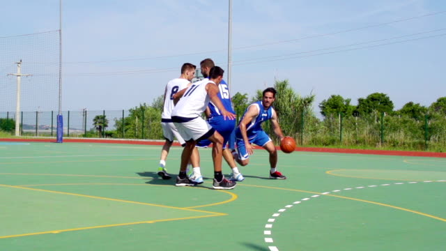 HD: Wide Shot of Attractive Basketball Action video