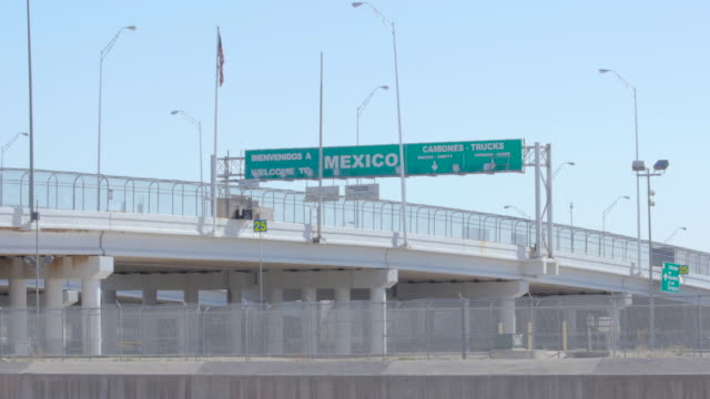 Wide Shot of Mexico Border video