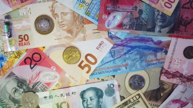 Wide variety of currency from different countries