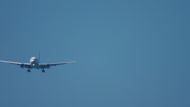 着陸前に接近するワイドボディ飛行機 ビデオ
