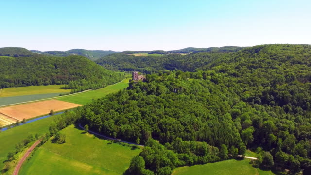 Wiesent River Valley And Neideck Castle In Franconia video