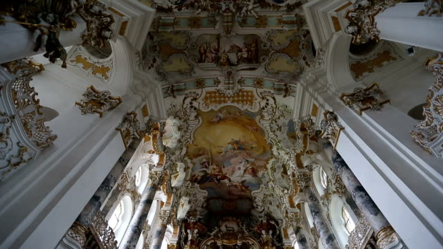 wieskirche church in germany - church architecture stock videos & royalty-free footage