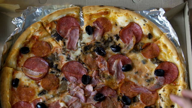 Wife forbids husband to take one more pizza slice, diet control, healthy living video