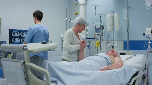 DS Wife visiting her husband in the intensive care unit video