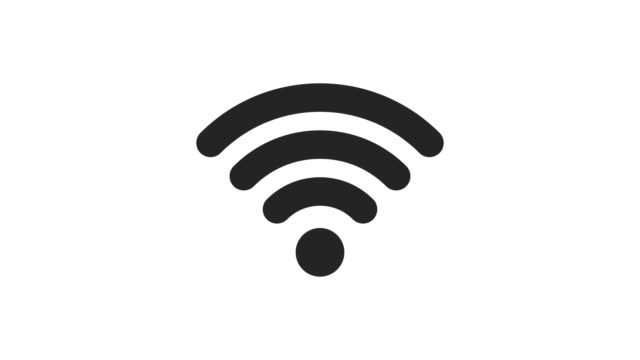Wifi icon 2D animation on white background. Icon design. 4K resolution