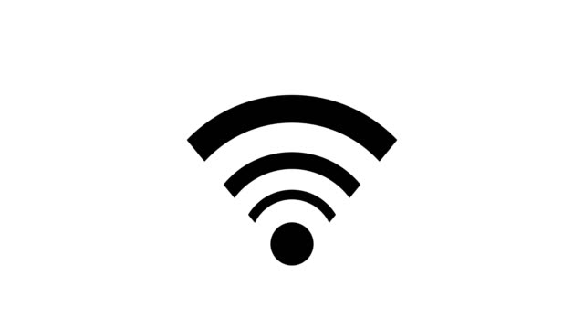 wifi icon animation 4k. wifi symbol. connection sign - wireless technology stock videos & royalty-free footage