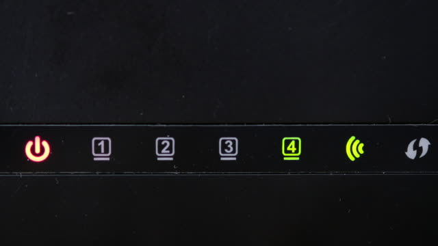 Wi-Fi router icons blinking status video