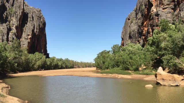 Wild landscape of a gorge in Kimberley Western Australia 06