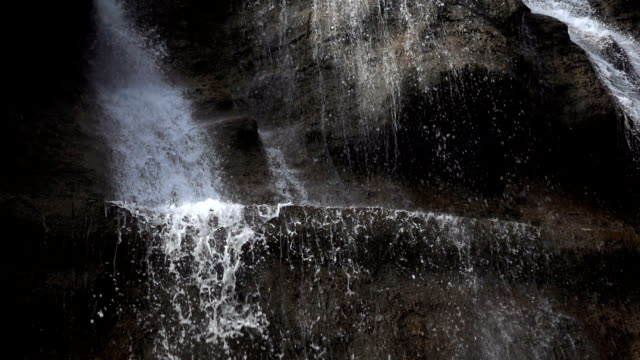 Wild Waterfall Splash Detail