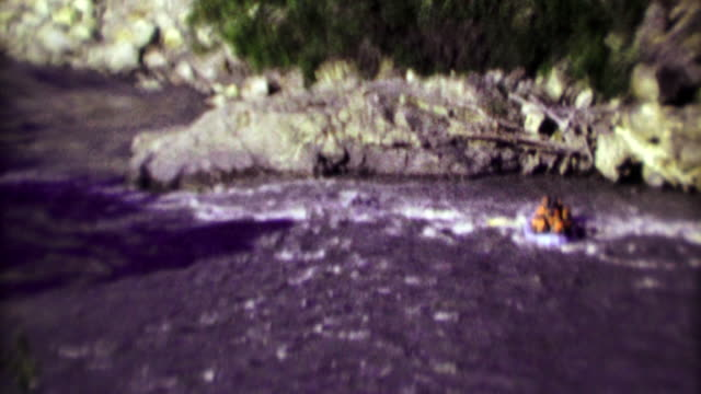 1974: Wild whitewater rafters brave dangerous wilderness rapids.