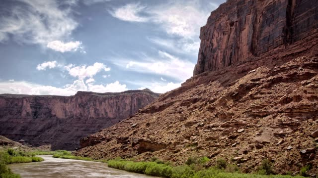 Wilderness Canyonlands River Rafting Sunset Timelapse near Moab video