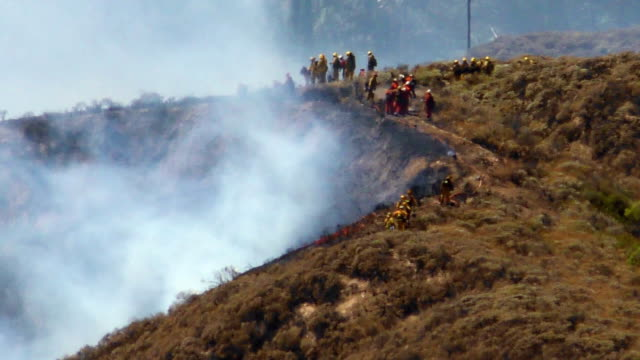Wildfire 1n FIREFIGHTERS Wildfire in Southern California 2015 stock videos & royalty-free footage