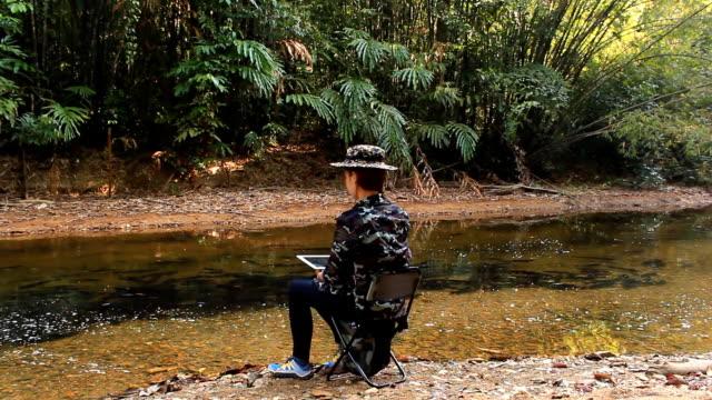 Wildtiere Fotograf Aufnahme Bild Vogel im Regenwald-Dschungel – Video