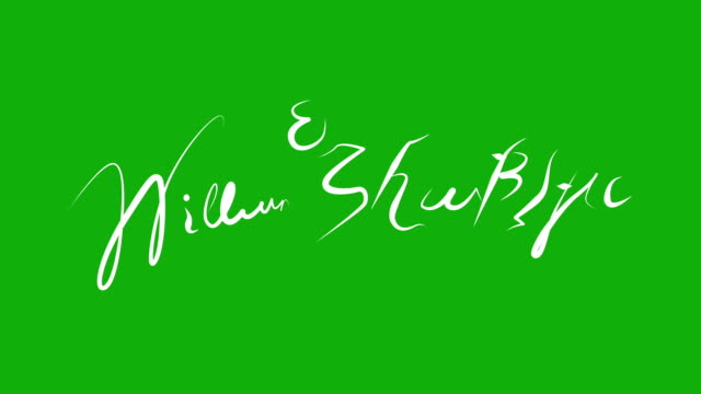 William Shakespeare - Signature Animation on Green Screen video