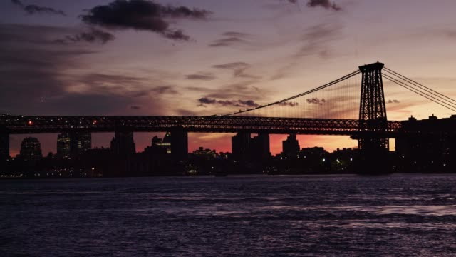 Williamsburg Bridge at Sunset video