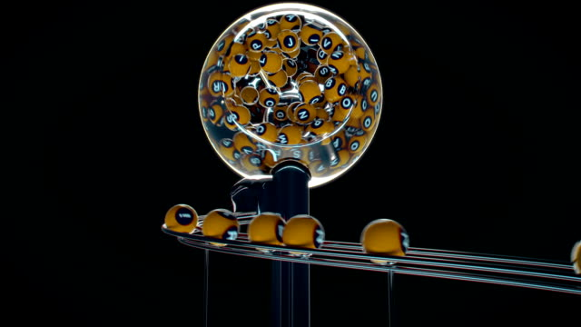 Ganar el jackpot en el oro de la lotería, ser millonario, el ganador - vídeo